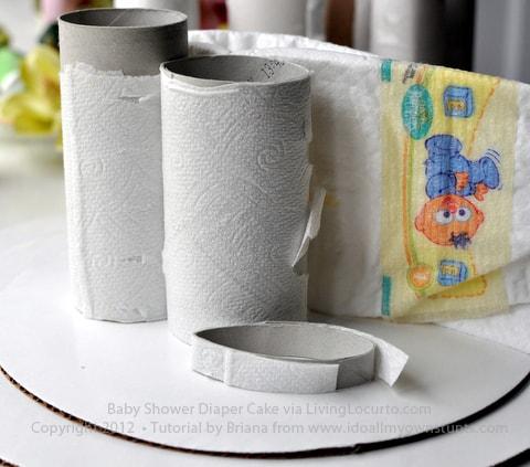 Baby Shower Diaper Cake Tutorial