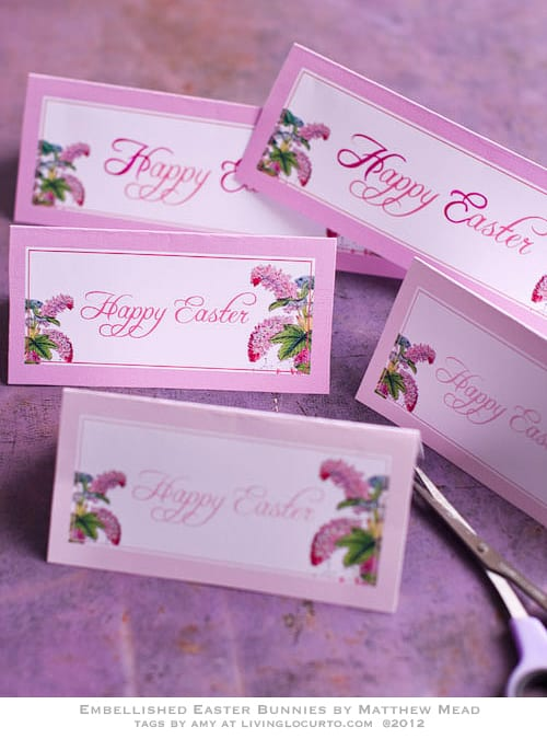 Chocolate Bunny Edible Craft & Free Printable Easter Tags by Living Locurto
