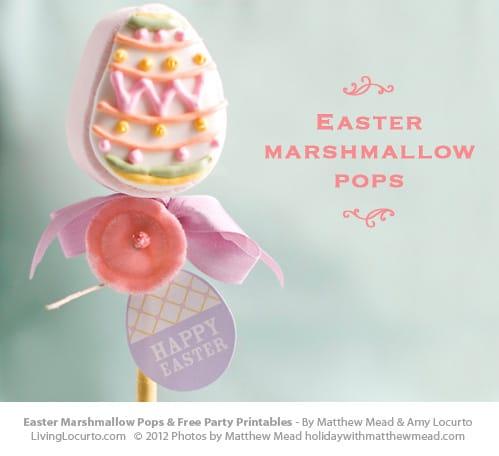 Easter Egg Marshmallow Pops | Free Printables