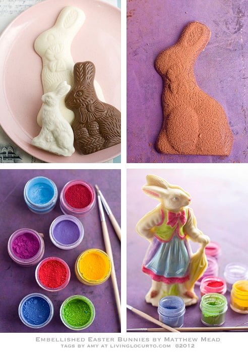 Chocolate Bunny Edible Craft Matthew Mead & Free Printable Easter Tags by Living Locurto