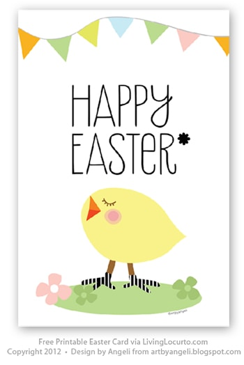 graphic about Easter Cards Printable named Totally free Printable Easter Card - Dwelling Locurto