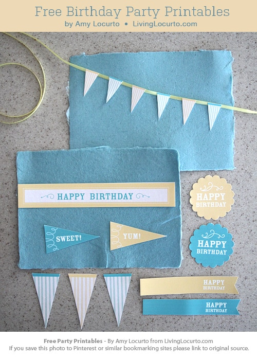 Free party printables Living Locurto
