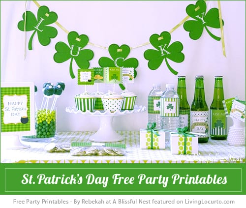 St Patricks Day Party Printables Living Locurto