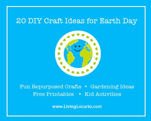 Earth Day Recycled Craft Ideas - Free Printables - Kid Crafts