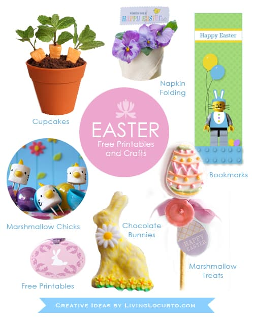 Easter Crafts and Free Printables by Living Locurto