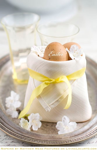 How to fold a Napkin Tutorial - easter basket napkin