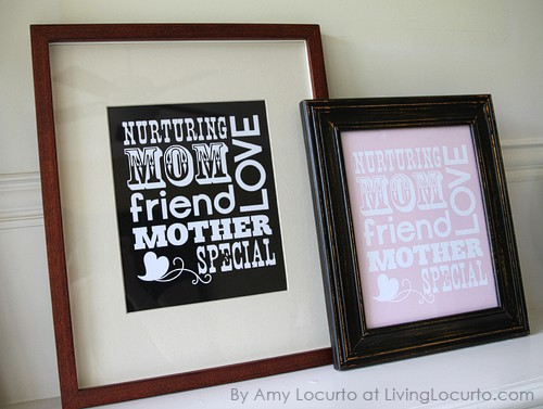 Free Printable Mothers Day Art - DIY Gift