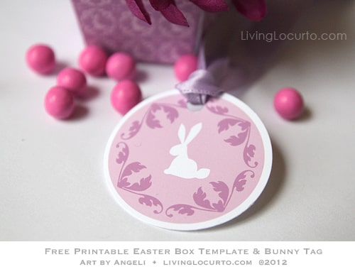 Free Party Printable - Free Easter Box Template & Tag at LivingLocurto.com