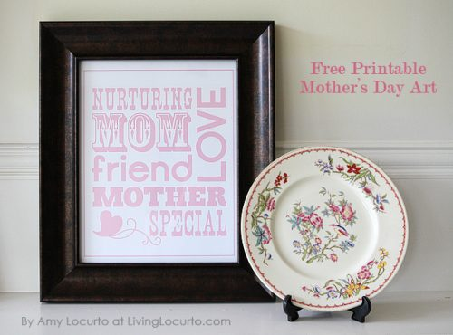 Free Printable Mother's Day Art by Amy at LivingLocurto.com
