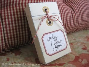 Message Box Craft Tutorial - Mothers Day Gift - Free Printable