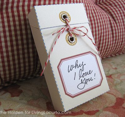 Message Gift Box Craft {Free Printable}