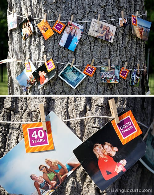 Picture Tree - Birthday Party Decoration Idea