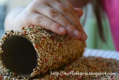 Toilet Paper Roll Bird Feeder Earth Day Craft - By The Moffatt Girls