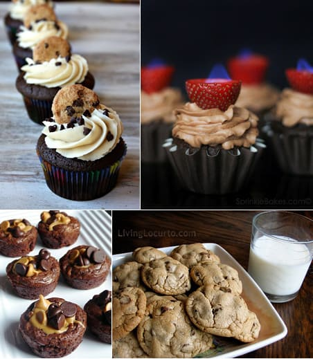 Chocolate Recipes - Cupcakes, Brownies and Cookies