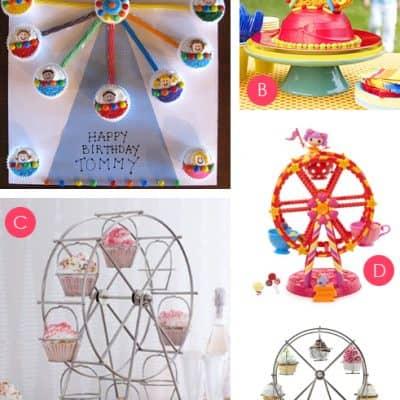 Ferris Wheel Cupcake Holders & Cake Ideas