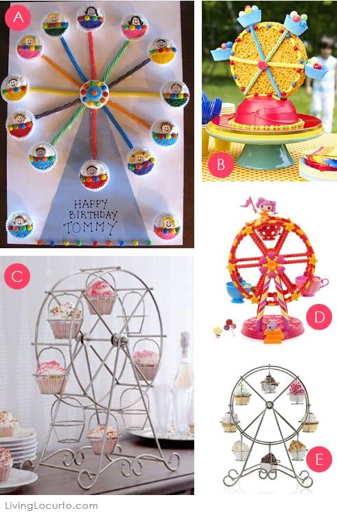 Ferris Wheel Cupcake Holder Cake Ideas
