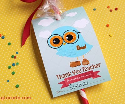 Teacher Appreciation Free Printables & Gift Idea