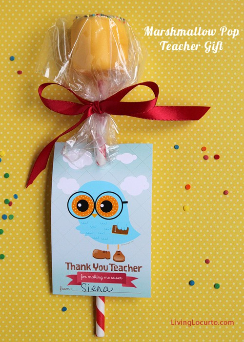 Teacher Appreciation Gift Idea - Free Printable Owl Tags