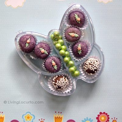 Butterfly Party Favors {Mini Cake Balls}