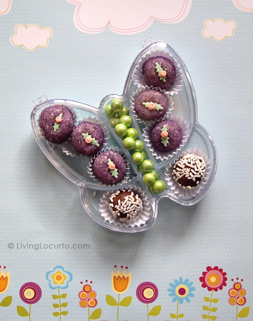 Butterfly Mini Cake Balls - Fairy Party Favor