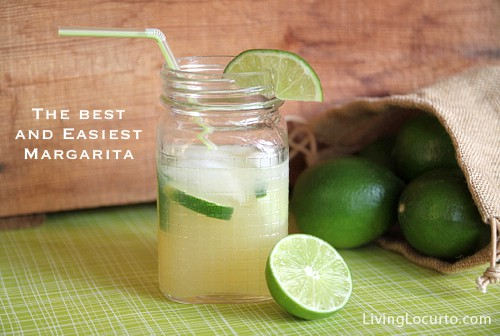 Easy Margarita Recipe in a Jar via Amy Locurto at LivingLocurto.com