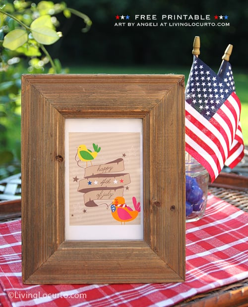 Free Patriotic Party Printable Tag for July 4th - Living Locurto