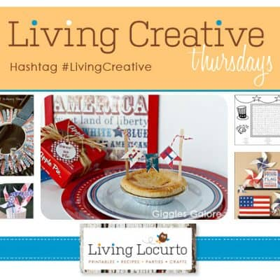 July 4th Patriotic Party Crafts {Living Creative Thursday}