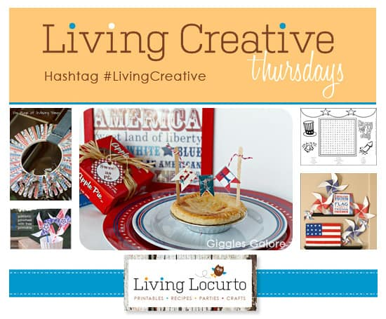 4th of July Craft Ideas - Patriotic - Living Locurto - #LivingCreative