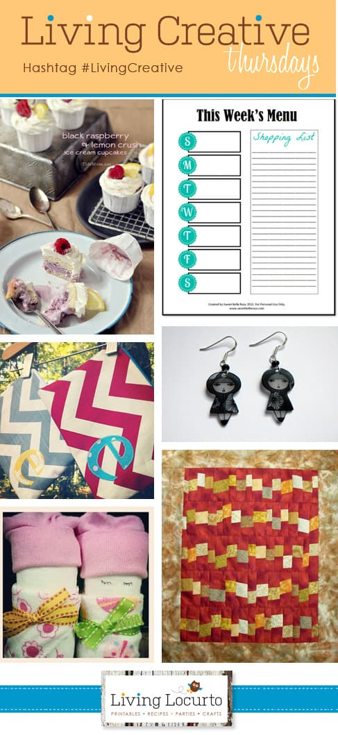 "Great DIY Projects - ""Living Creative Thursdays"" Round-Up on LivingLocurto.com #LivingCreative"