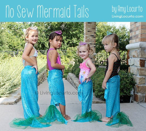 No Sew Mermaid Tails - DIY Craft - Party Idea - Living Locurto