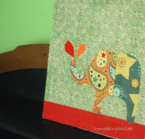 Paper Elephant Craft - Wall Art - Kids Room