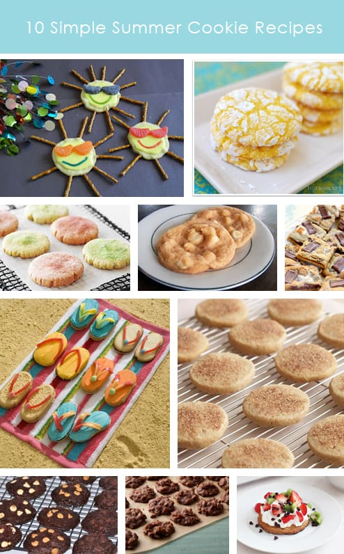 15 Easy Summer Cookie Recipes. Best Party Cookies! Cute dessert food to keep cool at a picnic, bbq, beach or pool party. Fun food for summer parties.