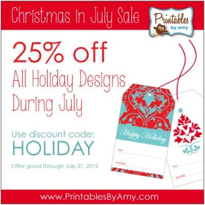 Christmas in July Sale on Printable Party Supplies