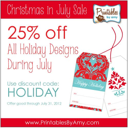 Christmas In July Party Supplies.Christmas In July Sale On Printable Party Supplies