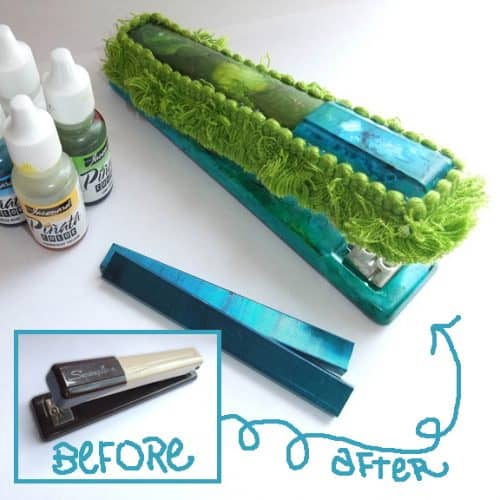 Stapler Craft - How to Embellish Office Supplies