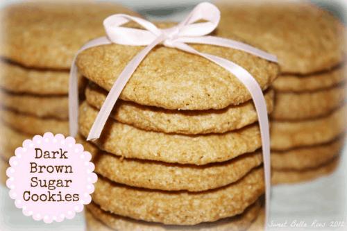 Dark Brown Sugar Cookies Recipe   Living Locurto   #LivingCreative Thursdays