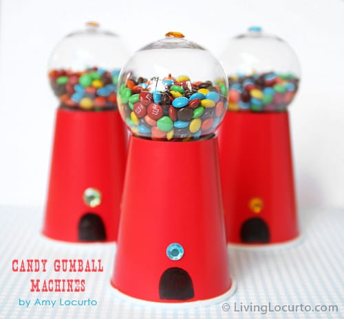 Candy Gumball Machine Party Favors by Amy Locurto | Living Locurto