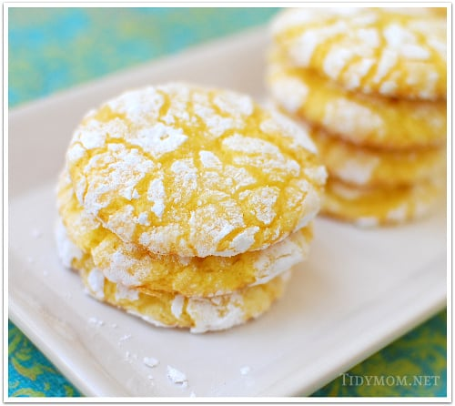10 Simple Summer Cookie Recipes - Lemon Burst Cookies by Tidymom