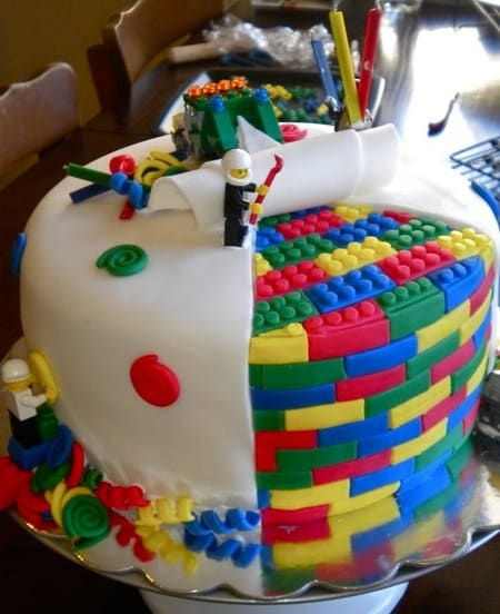 this amazing Lego Cake on Cake Wrecks and was seriously wowed! How fun ...