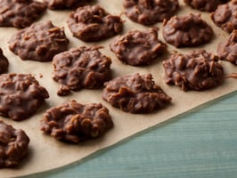 10 Simple Summer Cookie Recipes. Chocolate Peanut Butter No Bake Cookies via Foodnetwork.com