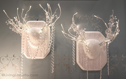 Antler Lights Christmas Decor - DIY Home Project - 5 Easy White Christmas Crafts