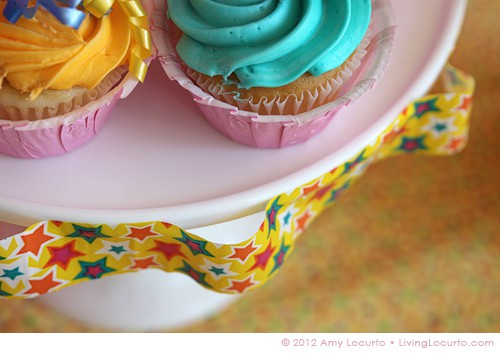 Cake Stand Party Ideas - Decorating with Duct Tape by Amy Locurto at LivingLocurto.com