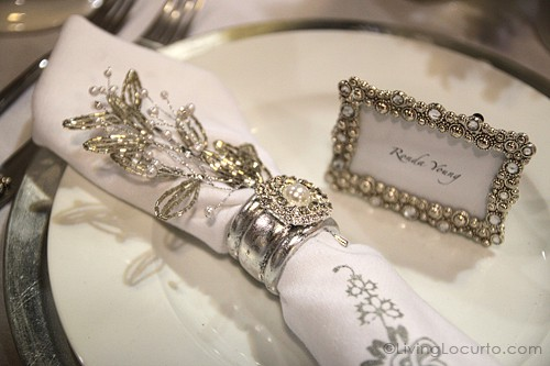 Christmas Holiday Table Place Setting
