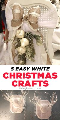 Easy White Christmas Crafts Holiday Farmhouse Home Decor