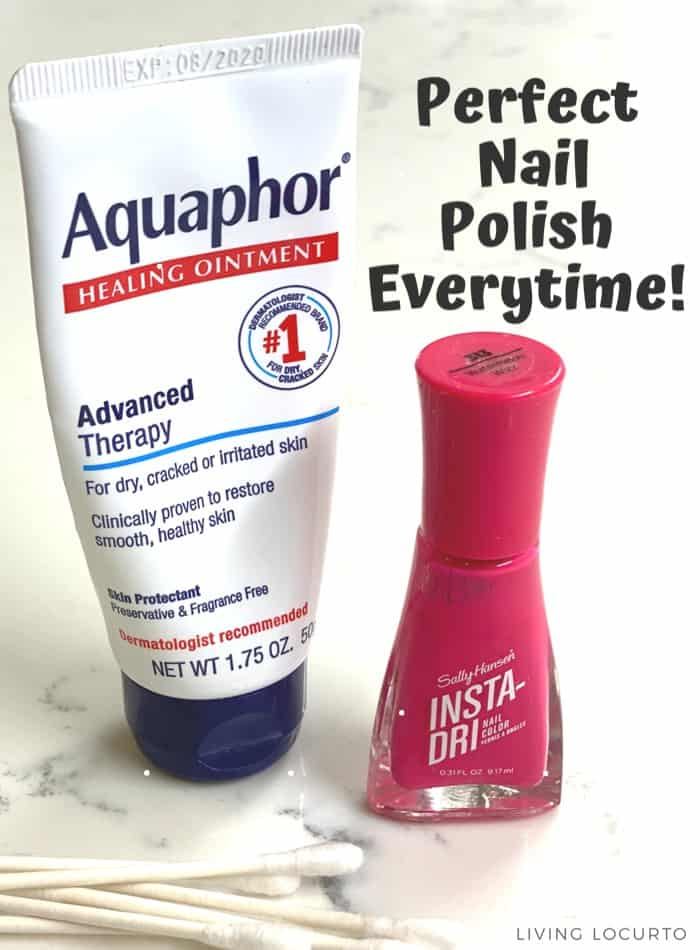 How to get the perfect nail polish. Easy beauty hack with Aquaphor.