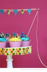 Party Ideas - Cake Banner - Decorating with Duct Tape by Amy Locurto at LivingLocurto.com