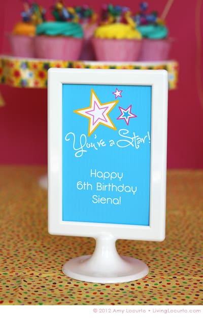 Party Ideas - Free Printable by Amy Locurto - LivingLocurto.com