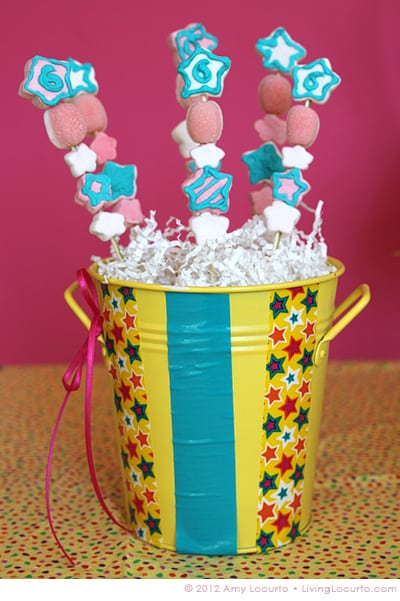 Party Idea - Easy Marshmallow Kabobs by Amy Locurto at LivingLocurto.com