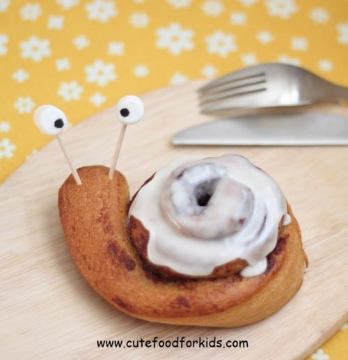 Cinnamon Roll Snail - Fun Food for Kids - Back to School