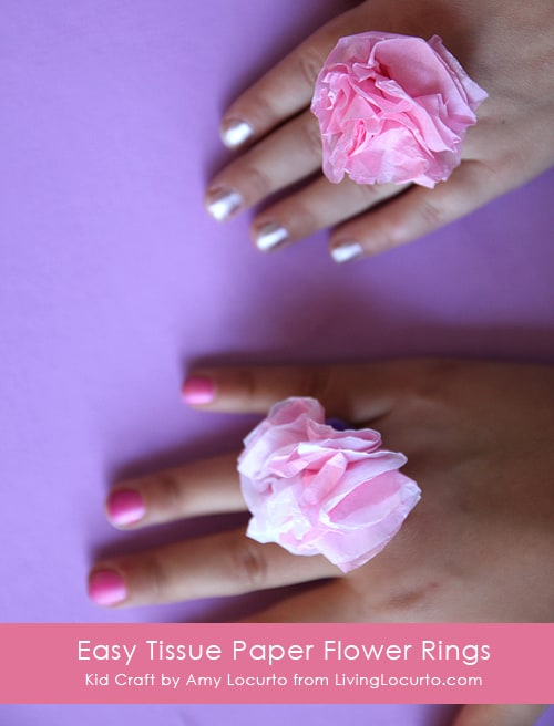 Easy Tissue Paper Ring Craft for Kids by Amy Locurto at Living Locurto